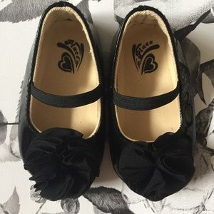 Other - Black Patent Ballerina Slippers